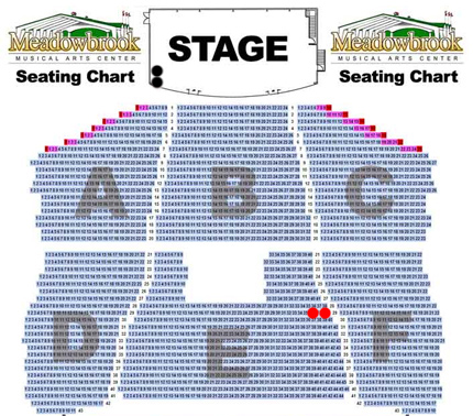 Meadowbrook seating chart