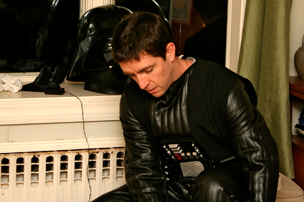 Suiting up in the Vader costume