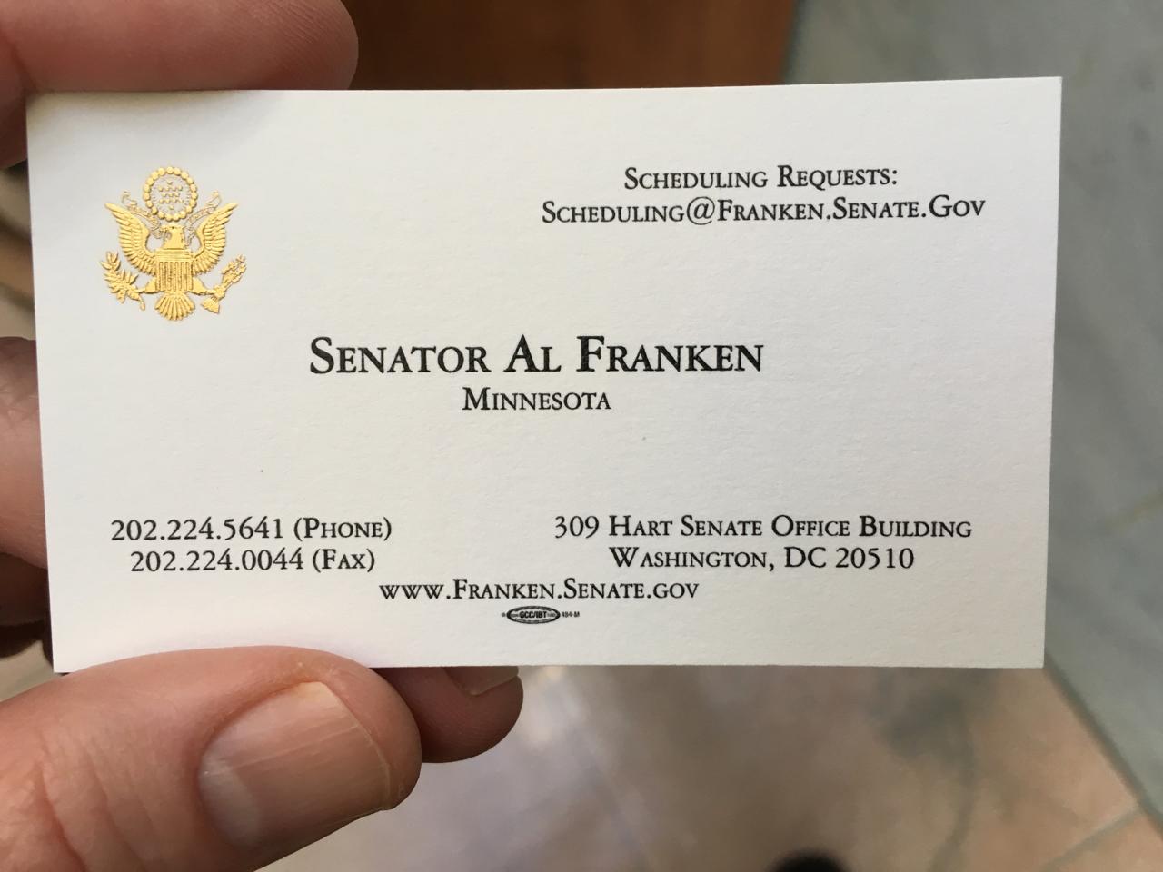 Al Franken's card
