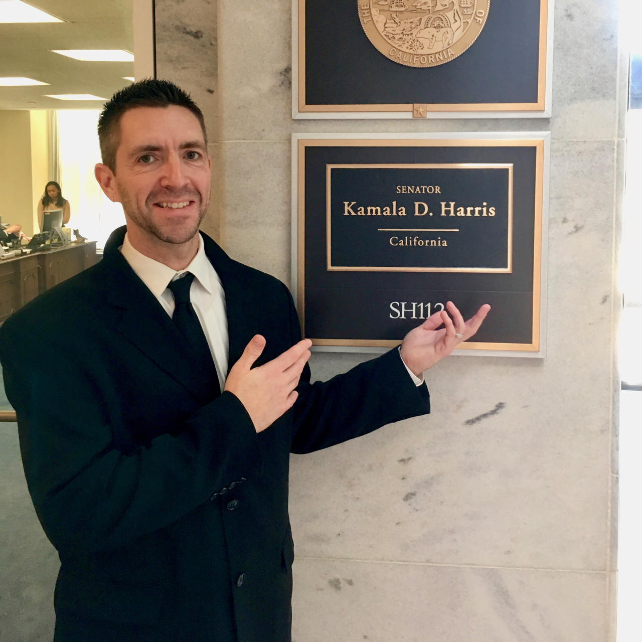 Jon Zal @ Kamala Harris' office