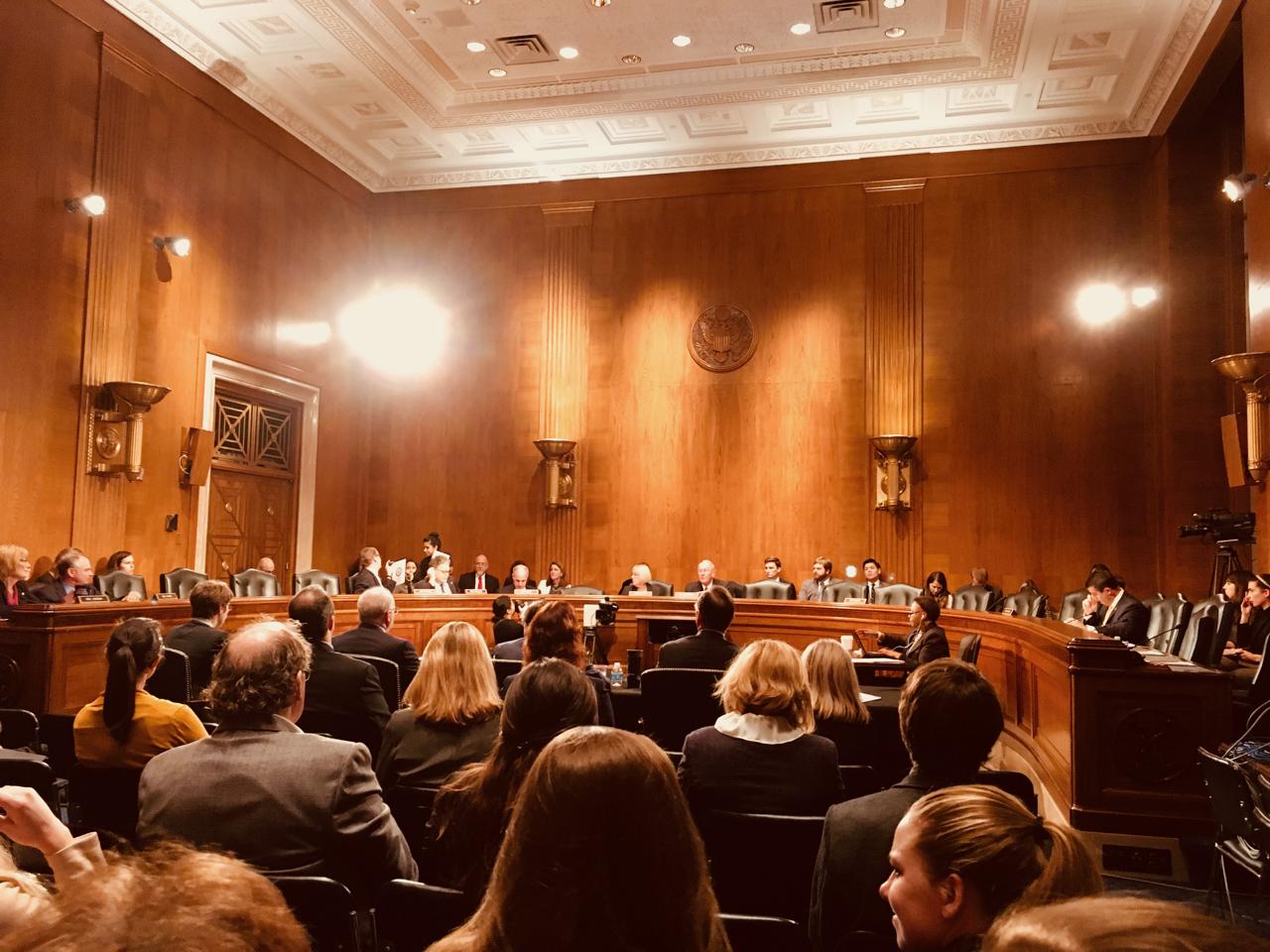 Senate Committee hearing