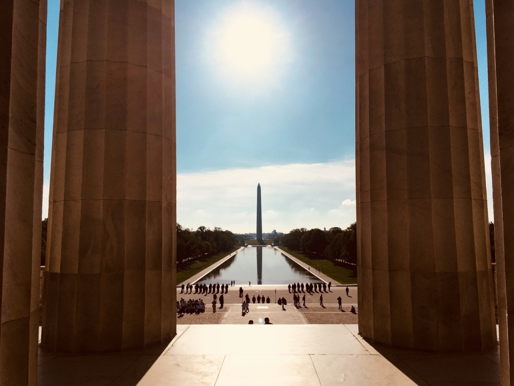 The National Mall from the Lincoln Memorial
