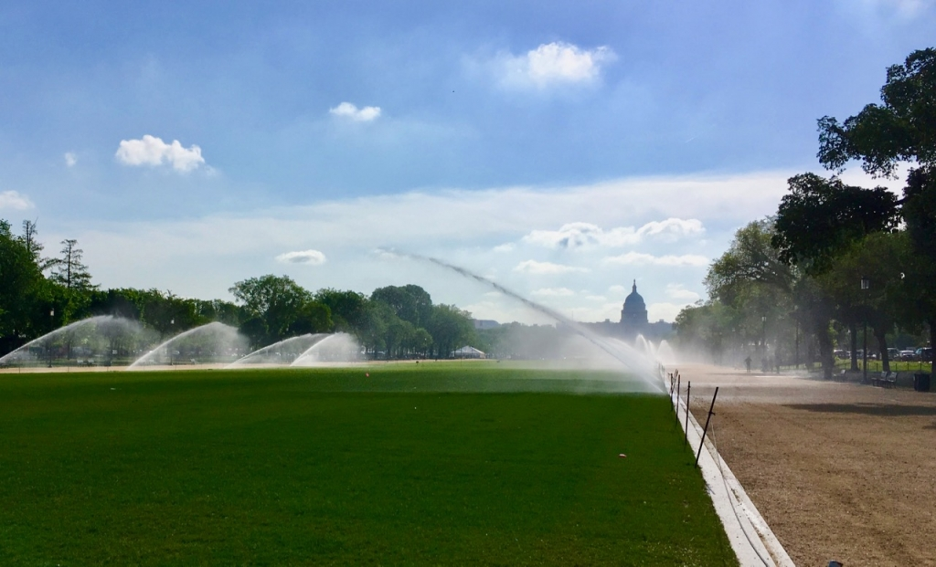 National Mall sprinklers