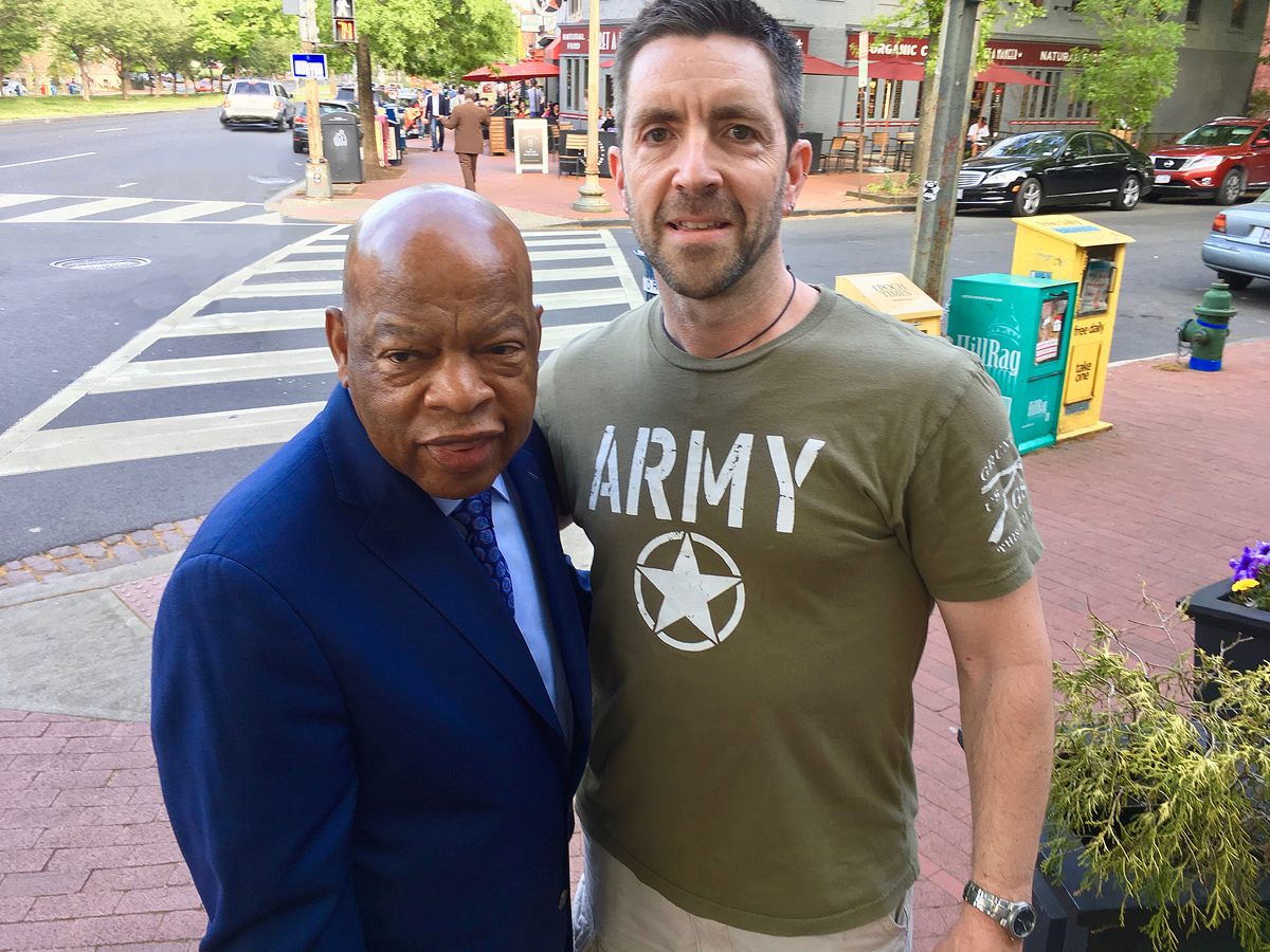 Me & civil-rights legend Rep. John Lewis